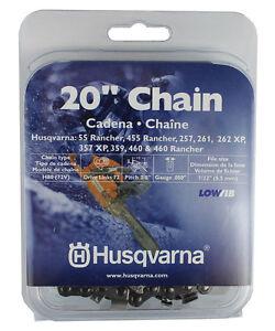 "Husqvarna 531300441 20"" H80-72 Chainsaw Chain .3/8"" by .050"" LowVib Original"
