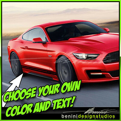 2005-2009 Ford Mustang Custom Side Stripe Decals #3