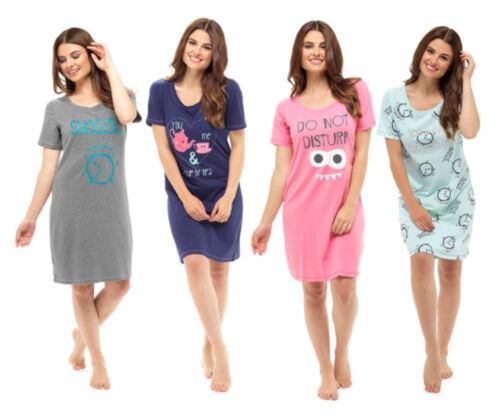 Nachthemd Sleepshirt Damen Bigshirt toll bedruckt 1//2 Arm 36-50 NEU