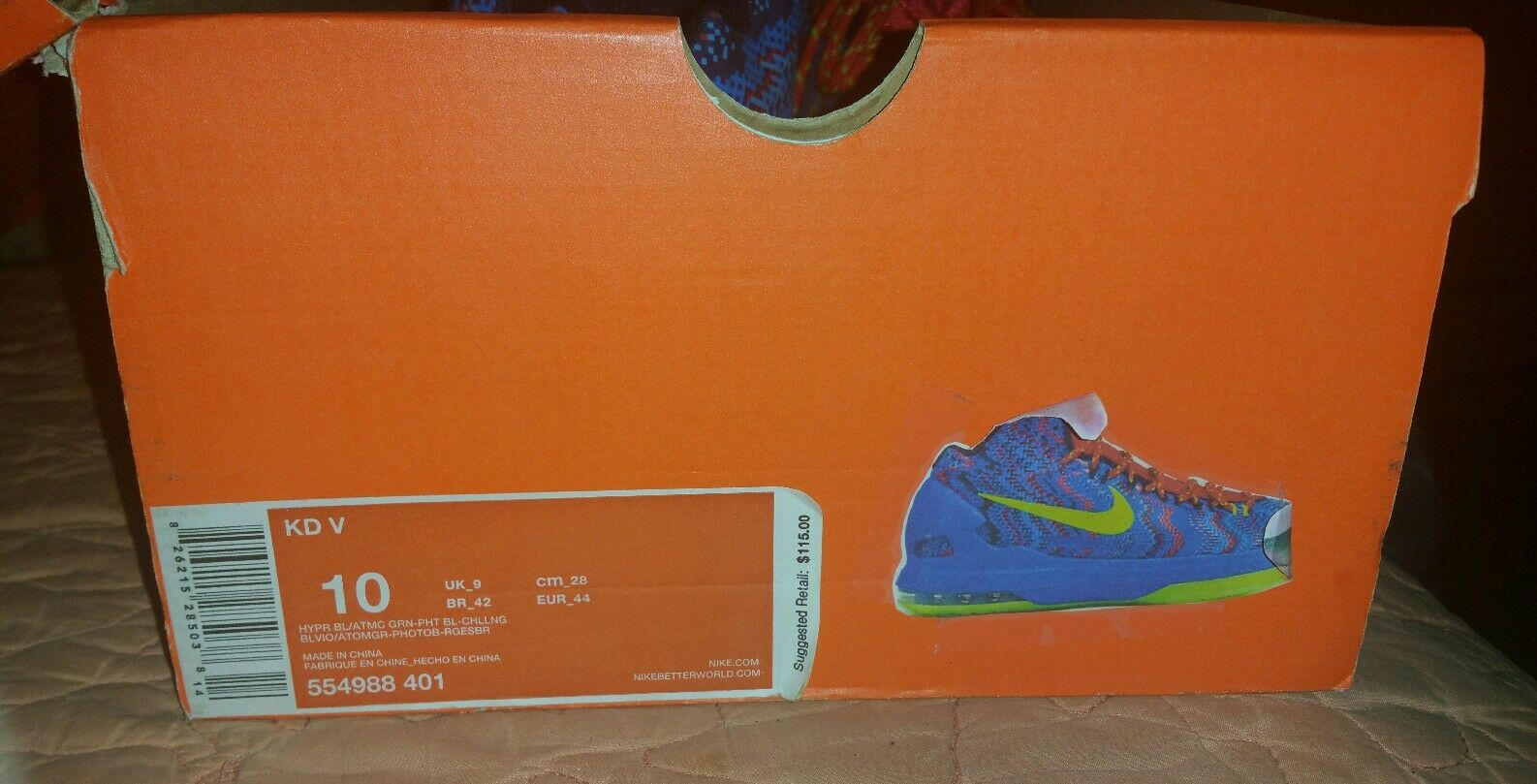 Nike kd / 5 natale calore palestra scarpa / / / california / basket / 554988-401 b125fa