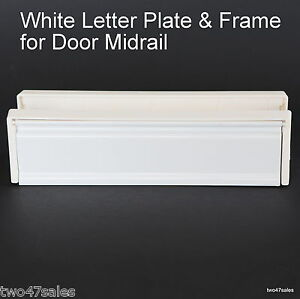 Image is loading 10-inch-White-FRAMED-Letter-Box-Plate-Letterbox-  sc 1 st  eBay : door letterbox - Pezcame.Com