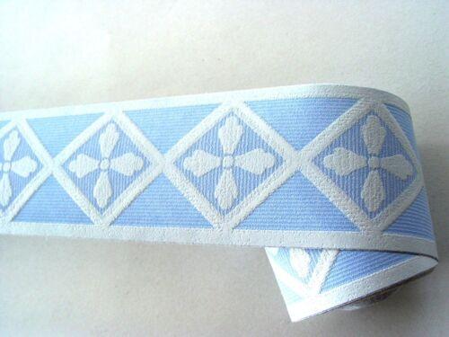 6 Bordüren 6x Bordüre selbstklebend 6cmx5m Geo blau 60362