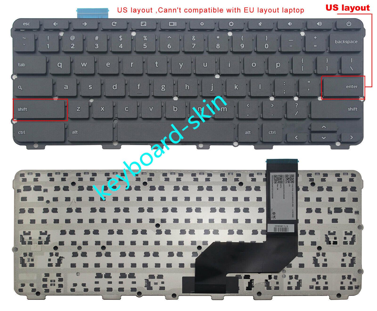 brand New for Lenovo N42-20 Chromebook laptop US Black keyboard no frame