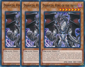 3 x Diabolos - Common King of the Abyss 1st Edition SR06-EN004