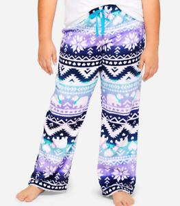Justice Girl/'s Size 14-16 Plus Polar Bear Fair Isle Pajama Pants New with Tags