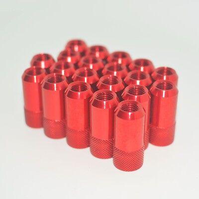 20PC JDM D1 ANODIZED RED ALUMINUM  M12X1.5M WHEEL RIM LUG NUTS For Toyota Honda