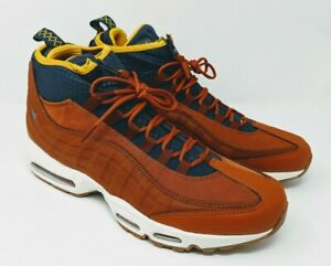 Details about Nike Air Max 95 SneakerBoot Russet Thunder Blue Yellow Men's Size 9.5 806809 204