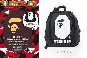b2c8333cb4c3 Image is loading Bape-A-Bathing-Ape-Backpack-Bag-Black-No-