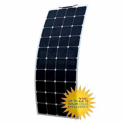 130W flexible solar panel made of back-contact cells with durable ETFE coating