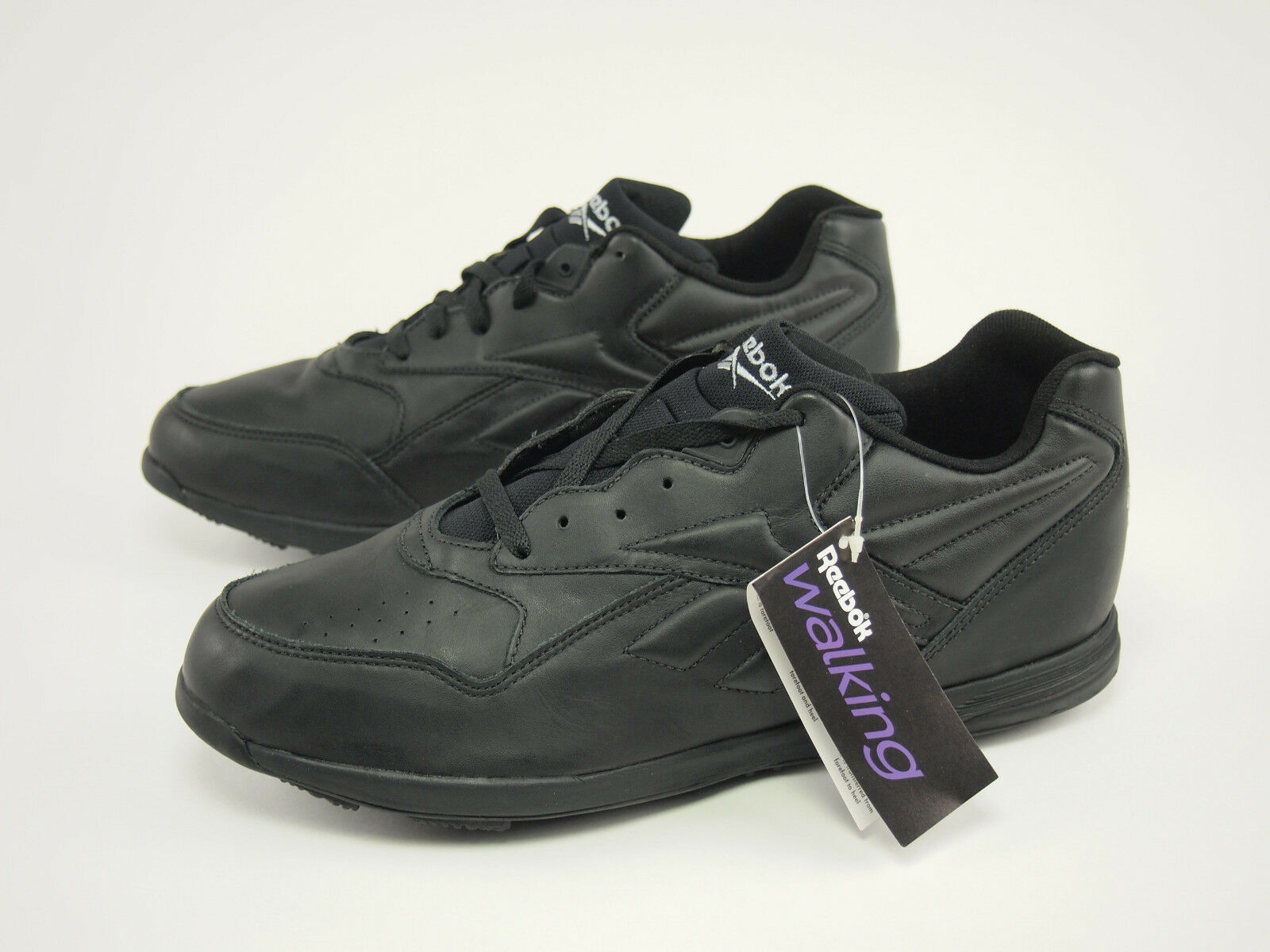 New 1990s REEBOK Vintage nero Leather Walking Walking Walking scarpe da ginnastica scarpe 47 - US 13 36521a