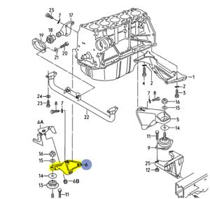 AUDI urS4 urS6 1992-98 2.2L TURBO PASSENGER SIDE SUPPORT MOUNT BRACKET 4A0199343