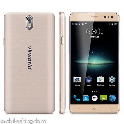 5.5'' VKWorld G1 4G Smartphone Android 6.0 3GB+16GB Octa Core Cellulare GPS Oro