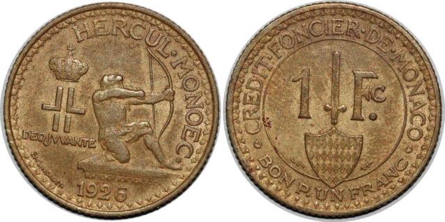 MONACO 1 FRANC  1926 LOUIS II