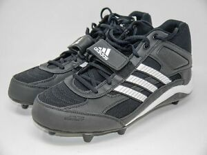 ee3bd6f049bfd3 Men s ADIDAS Corner Blitz 7 D Mid Football Cleats 667090 Black White ...