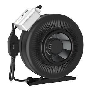 "VIVOSUN 4"" 6"" 8"" inch Inline Duct Fan Exhaust Air Blower w/ Speed Controller"