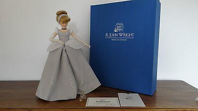 Rare R John Wright Disney Cinderella Felt Doll Limited Edition COA