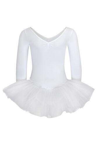 """tanzmuster Kinder Ballett Tutu /""""Romy/"""" weiß Ballettanzug Trikot Ballettkleid"""