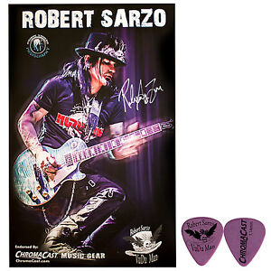 Robert Sarzo Autographed Poster Pack & Signature Guitar Pick Collector's Pack