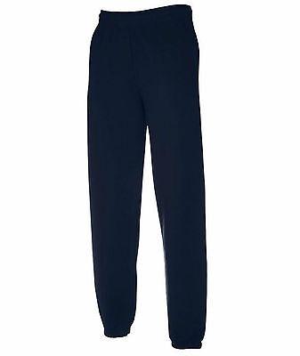 Pantaloni Felpati da Uomo FRUIT OF THE LOOM Nuovi Felpati ELASTICIZZATI Tuta Man
