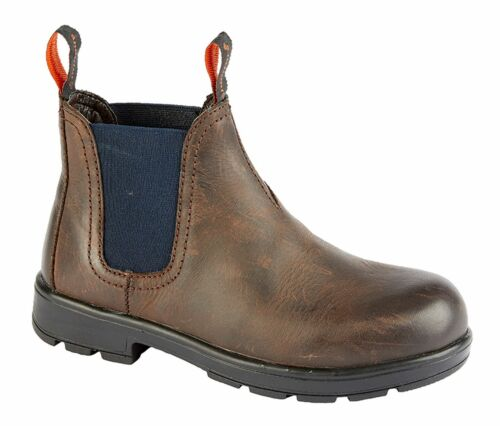 Boys Kids Infants Waxy Leather Pull On Twin Gusset Lightweight Ankle Boots Shoes