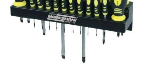 Schraubendreher-Satz 18-teilig mit Wandhalter Schraubenzieher-Satz Werkzeugset
