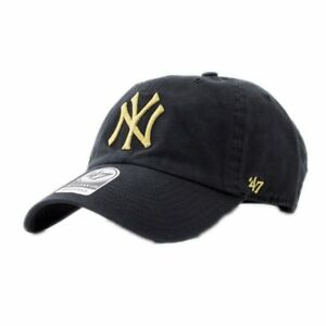 db58218213087 Cap 47 Brand Mlb New York Yankees Clean Up Curved V Relax Fit Black ...