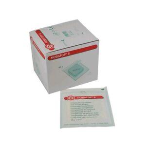 NOBATOP 8 sterile Kompressen Vliesstoffkompressen Wundauflagen 4-lag, 50/60x 2St