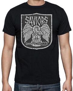 Walking-Dead-The-Saviours-Logo-Emblem-Negan-Lucille-Zombies-Black-Mens-T-Shirt