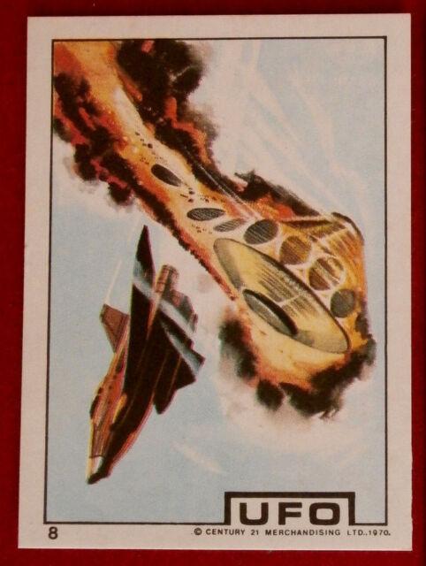 Details about UFO - DEADLY BATTLE WITH ALIENS - Monty Gum (1970) - Card #08