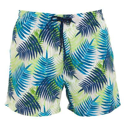 Designer Leaf Pattern Swim Shorts Mens Size Sparen Sie 50-70%