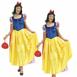 Licensed Snow White Adults Fancy Dress Costume Deluxe Disney Cosplay Outfit