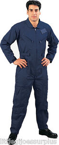 X-LARGE NAVY BLUE Flight Suit Air Force Style Fighter Flight Coveralls 7503