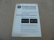 Prospekt Kettenritzel für Sachs Motoren 98ccm 98er 74ccm 74er