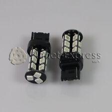 2 x Bombillas 27 LED SMD ROJO CANBUS T20 W21W Coche Posicion y Freno Bombilla