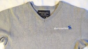 Abercrombie-Long-Sleeve-Gray-Sweater-Size-M