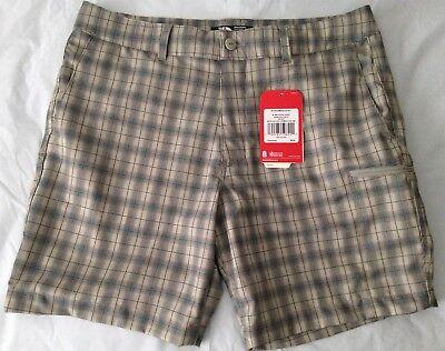 "The North Face Men's Amphibious Shorts 34x8"" FlashDry UPF-50 Granite Bluff Plaid"