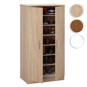Mueble zapatero Basic, armario zapatero auxiliar 2 puertas color Roble Canadian
