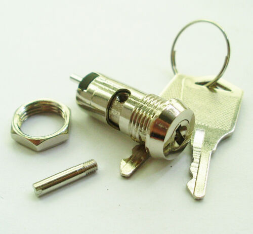 1pc Electronic double function 2 keys Metal Key Switch ON//OFF /& Lock Machinery /&