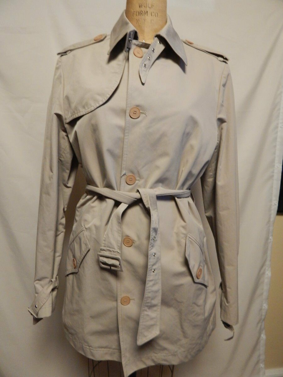 The Mens Store Single Breasted Trench Coat 40 Beige   New w  Defects