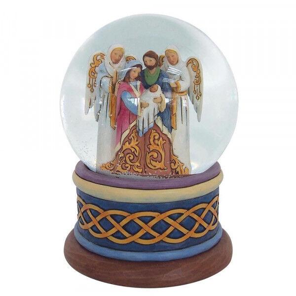 JIM SHORE Behold the Good News News News of Great Joy Nativity Enesco 4058801 Schneekugel 8655d5