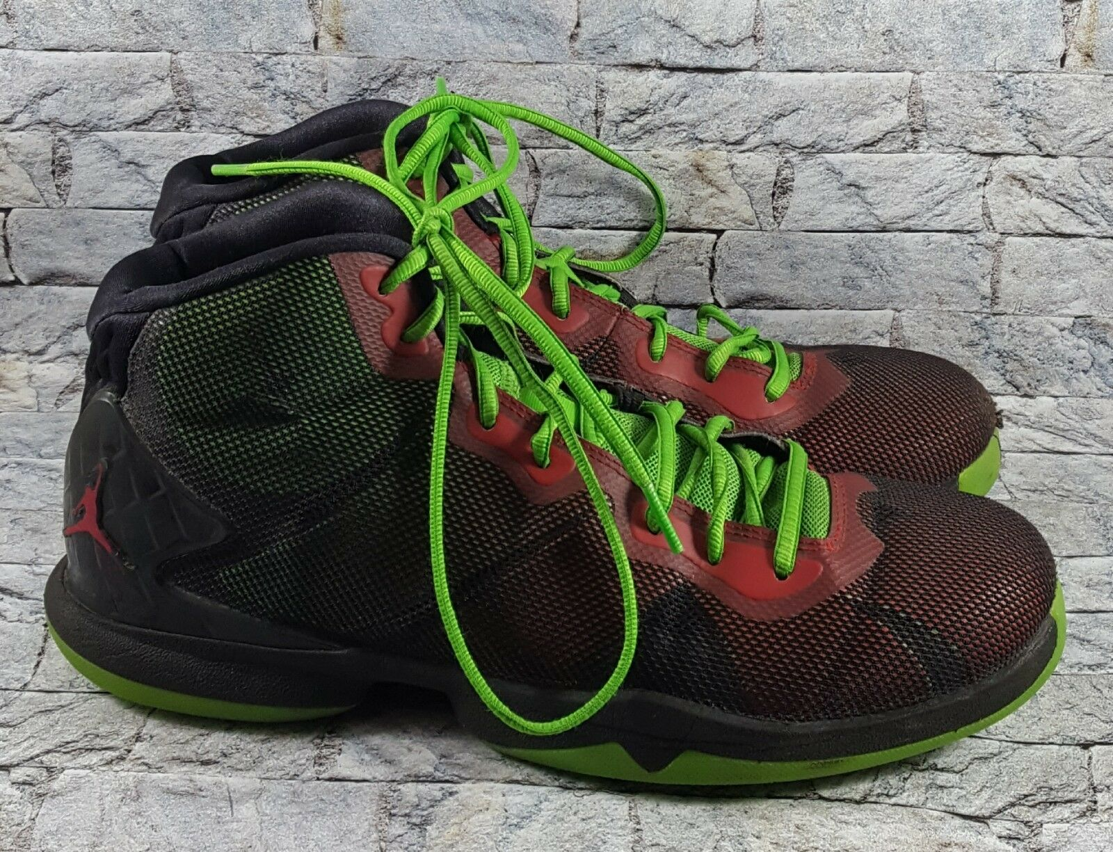 Air jordan superfly scarpe 4 uomini 768929-006 nero / verde / rosso, scarpe superfly da basket dimensioni 9.5 a40dfd