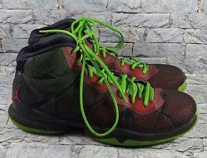 ee795488c5b3 Air Jordan SuperFly 4 Mens 768929-006 Black Green Red Basketball ...