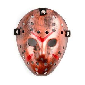 Deluxe Hard Plastic Halloween Horror Jason Ice-Hockey COSTUME MASK Solid Black