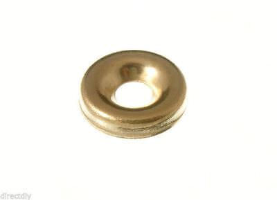 #6 Cup Washer//Countersunk Finishing Washer Brass Pk 100