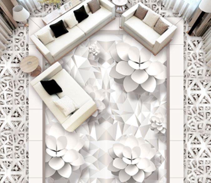 3D Pure Noble Flower267 Floor WallPaper Murals Wall Print Decal 5D AJ WALLPAPER