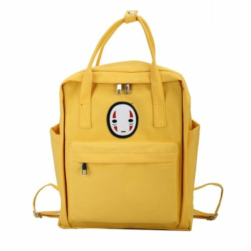 Spirited Away No Face Harajuku Pastel Japan Anime Backpack School Bag Rucksack