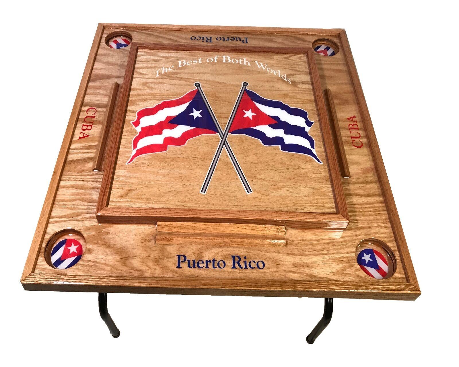 Puerto Rico et Cuba Domino Table