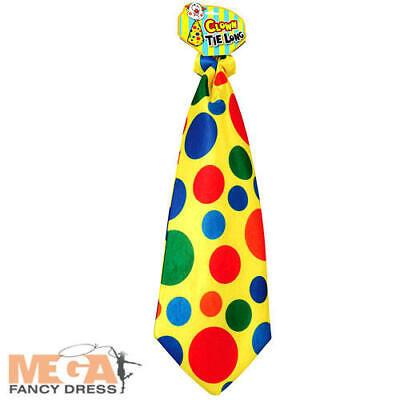 Obbiettivo Cravatta Lunga Clown A Pois Adulti Costume Circo A Pois Costume Accessorio Nuovo-
