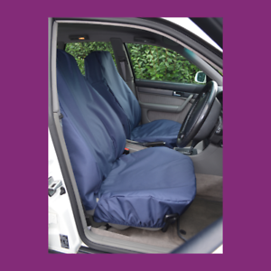 Front Car Van Navy Blue Waterproof LARGE Universal Airbag Compatible Seat Covers