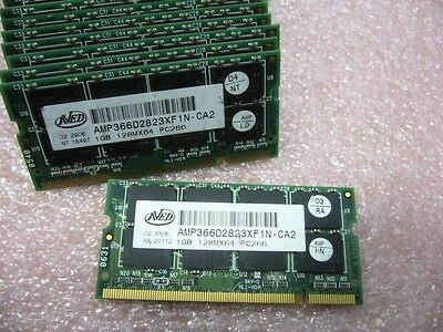 QTY 1x 1GB AVED DDR 266Mhz PC2100S SO-DIMM memory stick for laptop